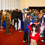 The line for the costume contest