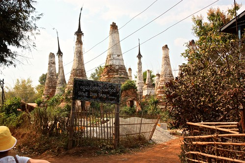 Ancient stupas at ancient Inn Dain