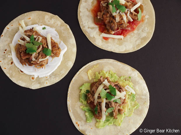 slow cooker pulled pork mini tacos | ginger bear kitchen