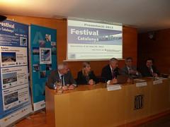 Esq-dreta: Joan Bellavista (Port Mataró), Rosa Bertran (Aj.Badalona), Carlos Rico (ADIN), Jordi Ciuraneta (direcció gral Pesca i A. Marítims) i Miquel Guarner (ADIN).