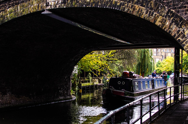Camden Lock England London United Kingdom canal boat