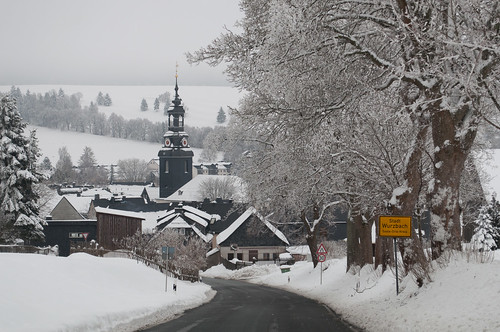 Einfahrt nach Wurzbach