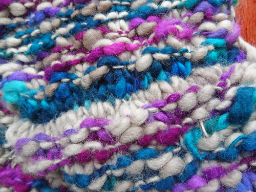 Colinette Cowl 06 - The wrong side of the three needle bind off.