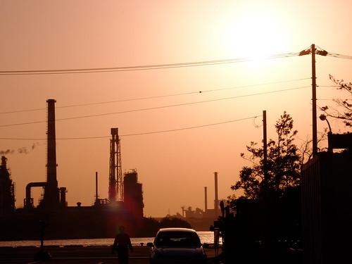 Kawasaki Factory Sunset Scene 06