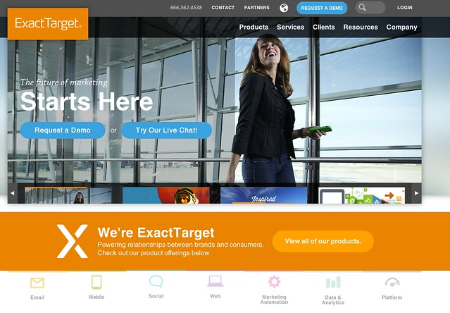 The new ExactTarget website