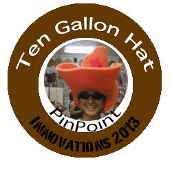 Image of Ten Gallon Hat Badge