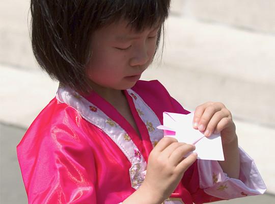 Samurai Origami Workshop. Photo by Jason Gardner.