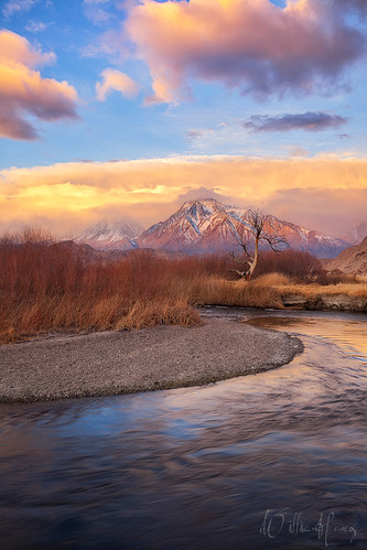 california winter mountains nature sunrise river landscape scenic sierras sierranevada bishop owens mttom easternsierra owensriver