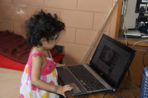 The Laptop Girl - Nerjis Asif Shakir by firoze shakir photographerno1