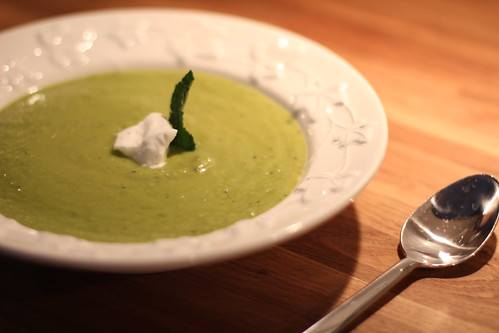 Get Your Green On: Creamy Pea Soup with Mint - Old Town Home