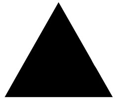 triangle, pyramid, line,