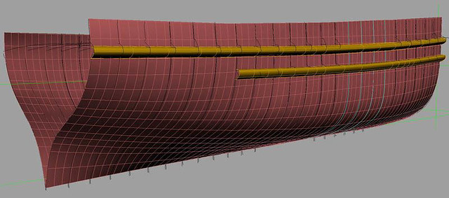 Hull lengthening - CAD fairing plates