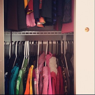 Day76 my closet finally has doors 3.17.13 #jessie365 #closet