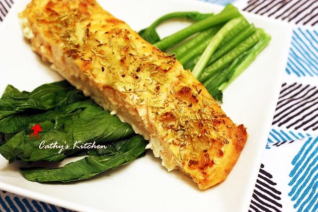 迷迭香料烤鮭魚片  Rosemary with Salmon6