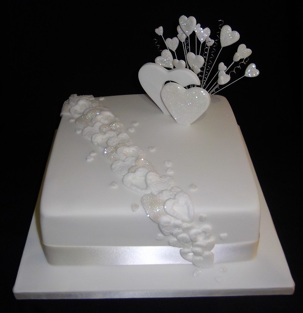Single Tier Wedding Cake
