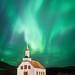 Aurora Borealis,Vik, Iceland by Simon J Byrne