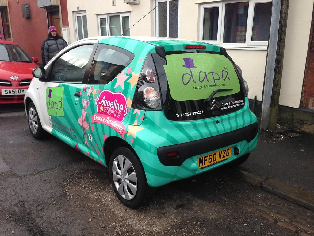 Ramsay fulwood hall berlingo 9 full digitally printed vehicle wrap including roof