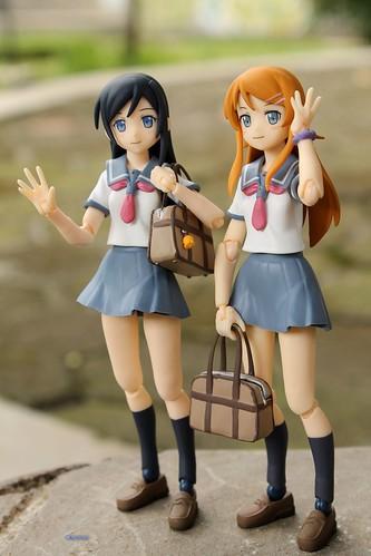 Highschooler cuties, Ayase & Kirino :3