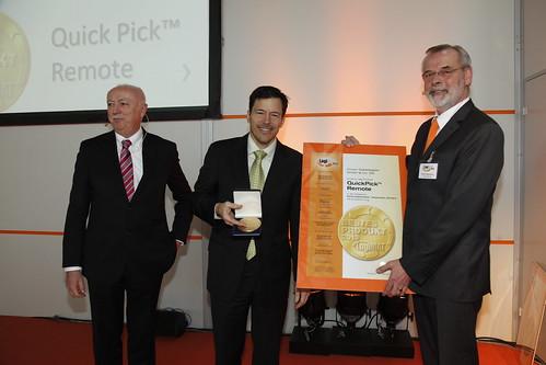 La télécommande Crown QuickPick® votée « Meilleur produit 2013 » à LogiMAT