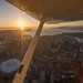Downtown Vancouver sunset fly-over in the Cessna 172