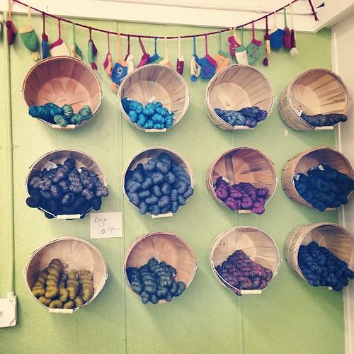 New yarn displays!