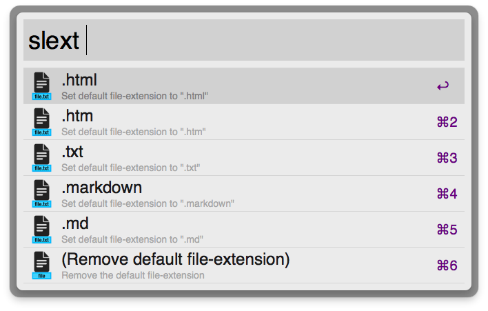 Setting a default file-extension