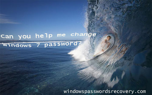 how to change Win 7 password