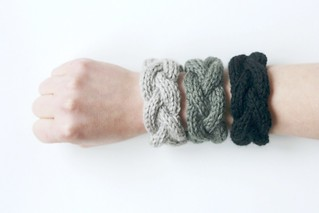 ombré grey cabled bracelets