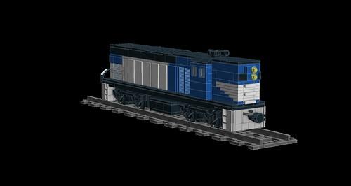 LDD MOC Queensland Rail 1400/1450 Class 8602274022_3515362508