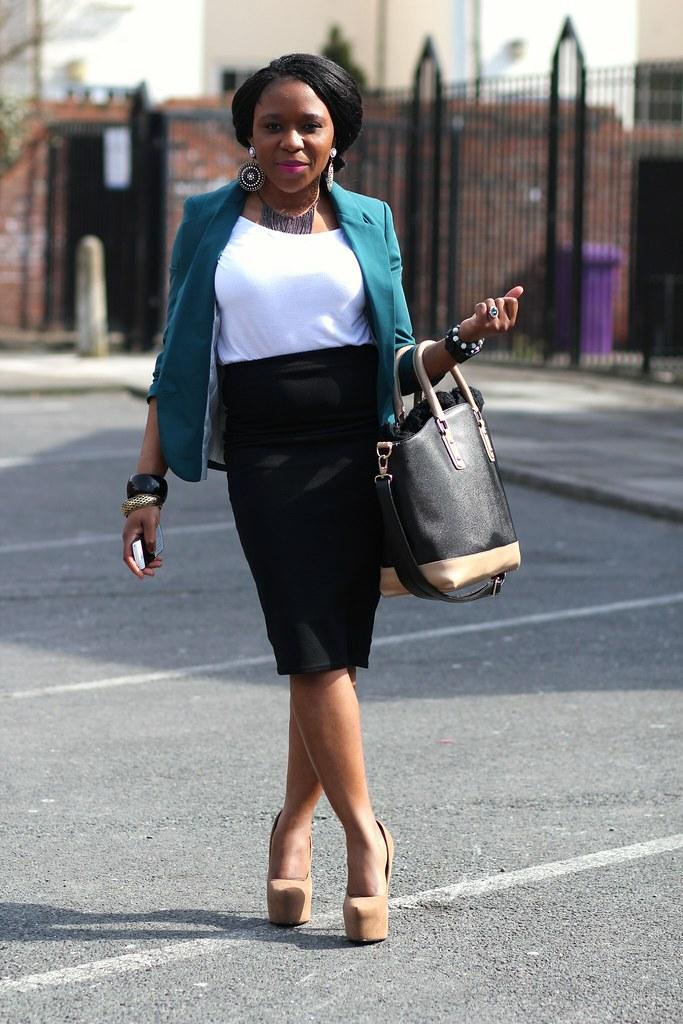 pencil skirt, calf length skirt, pencil skirt trend