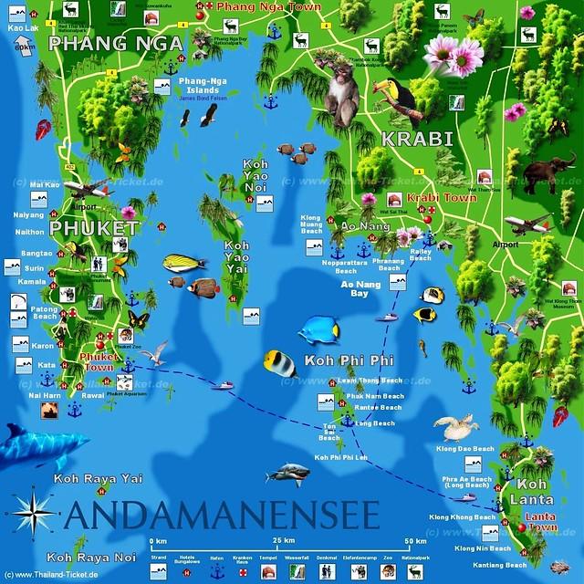 Thai Island Koh Phi Phi: Thailand South/ Koh Phi Phi Island / Andaman Sea