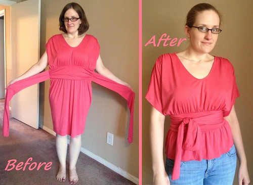 No-Sew Kimono Before & After