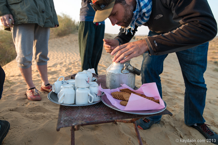 chai in desert in india