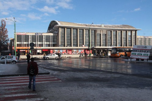 Street frontage of Brașov railway station
