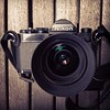 My Nikon FM black with Nikkor 35f2 & Domke Gripper strap