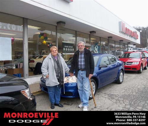 Monroeville Dodge would like to say Congratulations to Thomas McDowell on the 2013 Dodge Avenger by Monroeville Dodge