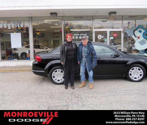 Monroeville Dodge would like to say Congratulations to Elaine McLaughlin on the 2013 Dodge Avenger by Monroeville Dodge
