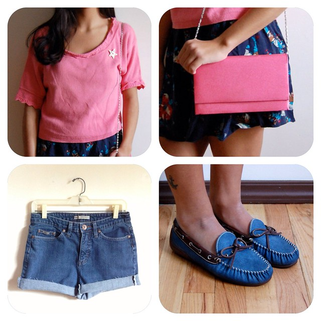 How to Wear Vintage • Pink and Blue.