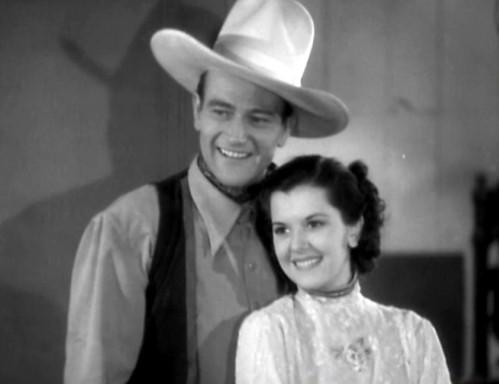 Ann Rutherford, John Wayne - in  1936