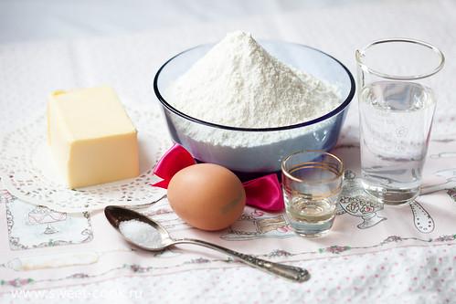 Ингредиенты для теста для торта Наполеон