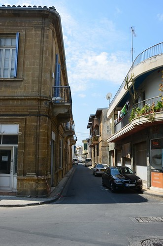Eine Strasse in der Altstadt von Nikosia