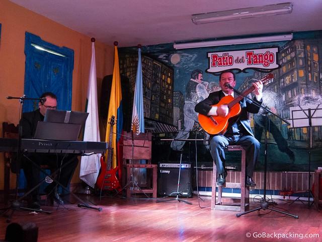 Tango singer