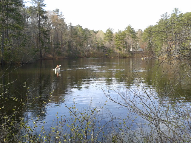 Paddling on a pond at Chattahoochee Nature Center