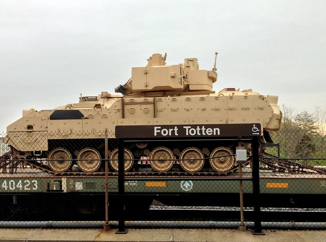 Bradley Fighting Vehicle at Ft. Totten Metro
