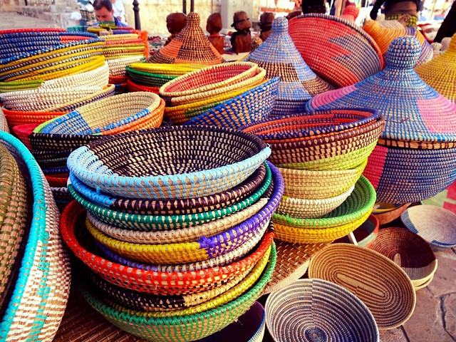 Baskets at Inca market, Mallorca