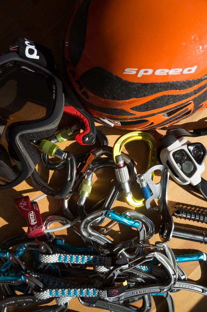 Assorted climbing gear