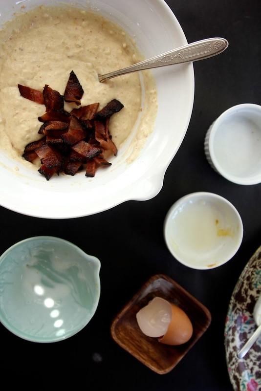 Peanut Butter Bacon Pancakes