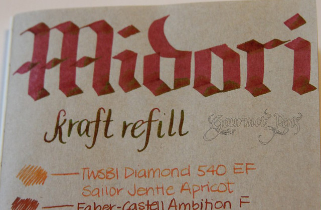 Midori Kraft Refill Close Up