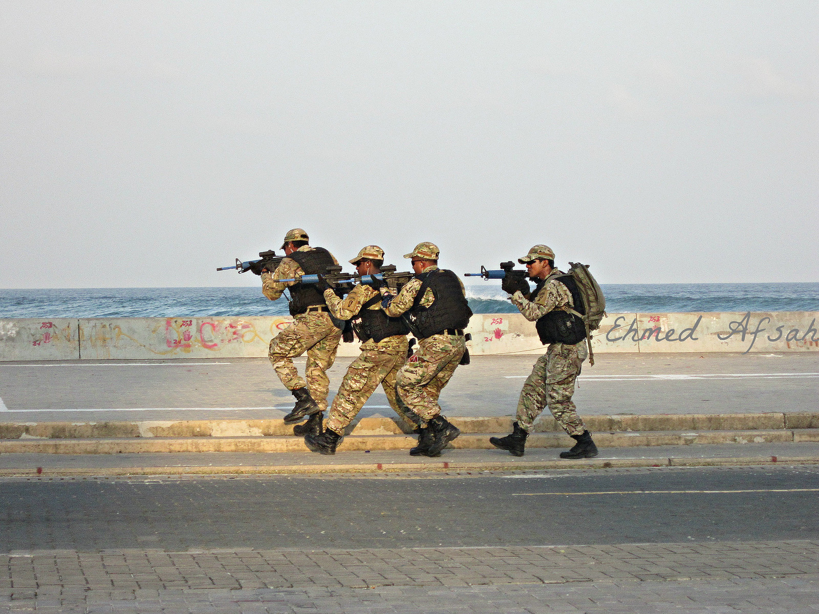 Maldivian Special forces show off their skills during a demonstration in 2012