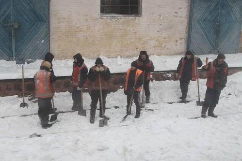 Still clearing snow from the Ukrainian Railways